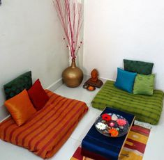 Large Floor Pillows At Target With Simple Dark Green Velvet Large Floor Seating Cushions In Uncategorized Style - Houses Flooring Picture Ideas Home Decor Bedroom, Decor, Home N Decor, Indian Bedroom Decor, Floor Seating Living Room, Floor Cushions Living Room, Colourful Living Room Decor, Home Decor, Home Decor Furniture