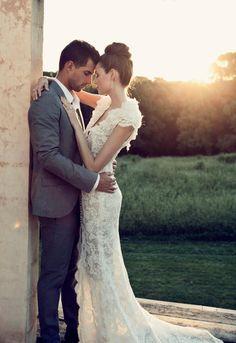 Lace wedding gown /  Steven Khalil LOVE