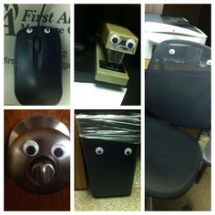 Best. prank. ever. Googly eye bombing! cheap Pranks at  http://www.anrdoezrs.net/click-5388345-10486006