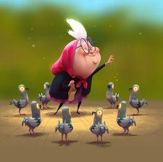 Bird Lady (Dark Animation), by Paul Tinker