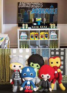Mrs. Irwin look at these dolls!!  I am sure your sons and grandchildren would love them {SUPER Hero} Avengers Party Ideas