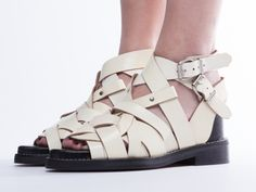 Acne Studios Lenna in Vintage White at Solestruck.com