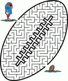 Free Football Coloring Pages, Mazes, etc.