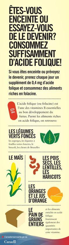 Vous essayez de tomber enceinte ou vous l'êtes déjà? Découvrez la quantité d'acide folique dont vous avez besoin http://canadiensensante.gc.ca/health-sante/pregnancy-grossesse/folic-acid-acide-folique-fra.php?utm_source=pinterest_hcdns&utm_medium=social&utm_content=Feb24_FolicAcid_FR&utm_campaign=social_media_14