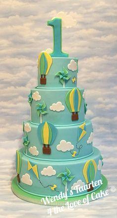 Cake hot air balloon.