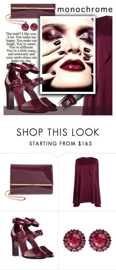 """""""Monochrome-Wine Red"""" by samketina ❤ liked on Polyvore featuring Ted Baker, Sonia Rykiel, Dolce&Gabbana, Color My Life and monochrome"""