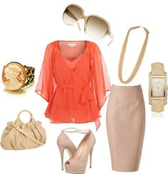 """Coral Punch"" by shemomjojo on Polyvore"