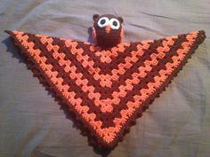 Crochet Owl security blanket.