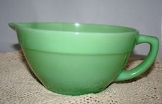 Fire King Jadeite Colonial Band Batter Bowl by UdellLane on Etsy