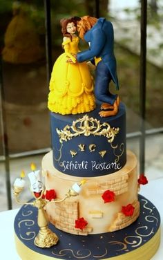 Beauty and the Beast Cake by Sihirli Pastane