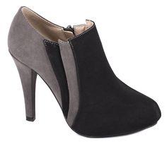 Pantofi cu toc - Pantofi negri de dama M1206NG - Zibra