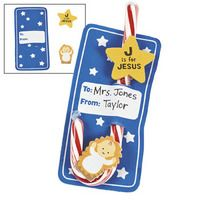 J Is For Jesus candy cane  craft kit.