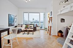 Studio apartment with lots of space saving ideas   Planete Deco