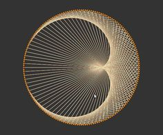 Some mathematical explination for making string art, in this example a cardioid