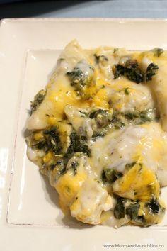 Chicken & Spinach Pierogi Casserole Recipe - a delicious family meal idea! #RaisedbyCdnFarmer