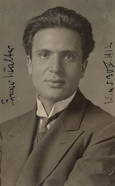 Bruno Walter (born Bruno Schlesinger,1876–1962) was a German-born conductor, pianist, & composer. Born in Berlin, he left Germany in 1933 to escape the Third Reich, settling finally in the U.S. in 1939. He worked closely with Gustav Mahler, whose music he helped establish in the repertory, held major positions with the Leipzig Gewandhaus Orchestra, New York Philharmonic, Royal Concertgebouw Orchestra, Salzburg Festival, Vienna State Opera & Bavarian State Opera