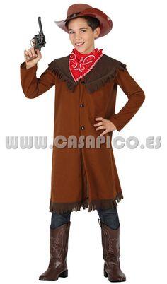 completo #disfraz de vaquero para niño, disponible en varias tallas #casapico #disfracescasapico
