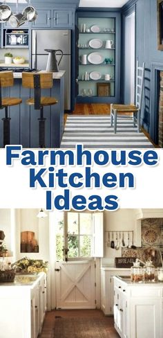 Clean Crisp Organized Farmhouse Style Decor Ideas Country Kitchen