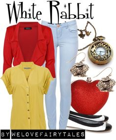 """""""White Rabbit"""" by welovefairytales ❤ liked on Polyvore"""