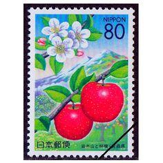 平成14年(2002)ふるさと切手 東北四季物語「岩木山とリンゴ」青森