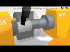 """A nice animation video about """"Aluminium Extrusion Process"""" from aluminium billet to ready profiles (video suitable for beginners)"""