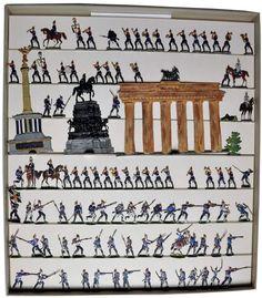 HEINRICHSEN. ZINNFIGUREN.LEAD FLATS. WORLD WAR 1. PRUSSIAN MILITARY & MUSICIANS