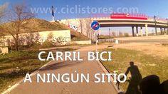 """Carril bici de Getafe a  Perales, se acaba en el puente y continúa tras el mismo....pasar al otro lado es cosa de """"magia"""""""