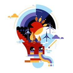 Engie / Various Eco Illustrations on Behance Autumn Illustration, Flat Illustration, Character Illustration, Digital Illustration, Magazine Illustration, Tableaux D'inspiration, Affinity Designer, Graphic Design Inspiration, Pixel Art