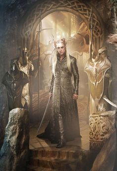 A still of Thranduil from the Hobbit Trilogy of movies