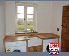 Utility Room Sink Unit : Custom Made Utility Room Next Door To The Bespoke Painted And Oak ...