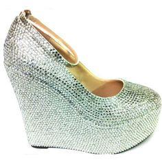 d994ce61079c31 Lemonade Crystal Wedge Shoes Silver - 4EverBling