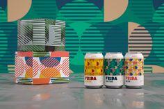 Frida Kombucha, the Healthy Sparkling Drink Concept by Studio Blackthorns - World Brand Design Probiotic Drinks, Alcoholic Drinks, Beverages, Lidl, Kombucha, Tupperware, Label Design, Branding Design, Package Design