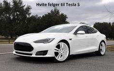 hvite felger til tesla model s / #megahjul.com