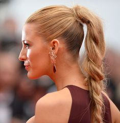 Love this messy braid. Blake Lively - 'Grace of Monaco' Cannes Film Festival Premiere & Opening Ceremony