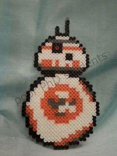 BB-8 Star Wars Perler Bead par poorphdstudents sur Etsy                                                                                                                                                                                 Plus