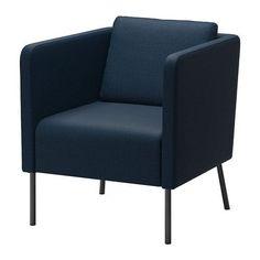 """EKERÖ Chair - Skiftebo dark blue - IKEA $129 (Width: 27 1/2 """" Depth: 28 3/4 """" Height: 29 1/2 """" Seat width: 22 1/2 """" Seat depth: 18 1/8 """" Seat height: 16 7/8 """")"""