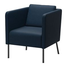 EKERÖ Chair - Skiftebo dark blue - IKEA- for living room if there is extra space. love this... bet it isn't comfy though