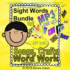 Give your kids the sight word repetition they need, and start with the easy words—2-letter sight words and 3-letter sight words.  Soothing, lullaby-style MP3s, heart and car crafts, and plenty of word work. Effortless, fun learning of sight words!
