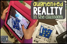 Augmented Reality in the classroom is easier than you think, plus it's a great tool for students. Give it a try and engage your students. Technology Lessons, Technology Integration, Technology News, Futuristic Technology, Medical Technology, Energy Technology, Virtual Reality Education, Augmented Virtual Reality, Instructional Coaching
