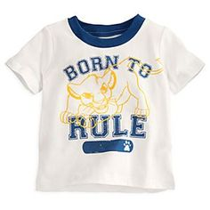 Disney Simba Tee for Baby | Disney StoreSimba Tee for Baby - Baby just can't wait to be seen in this roaring Simba graphic tee. Tailored from soft organic cotton with collegiate-style lettering, our flocked fashion top will make your little guy a big man on campus!