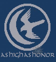 Game of Thrones Arryn house sigil counted cross stitch PDF pattern
