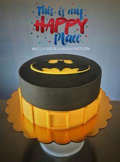 Batman cake [relleno en Selva Negra] Pastel Batman