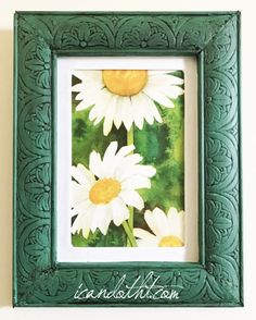 DIY vintage style textured frames