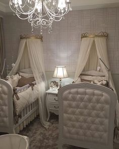 Surprising 17 Beegcom Best Interior Design New York, Best Furniture Store Lexington Ky Twin Baby Rooms, Twin Girl Bedrooms, Baby Bedroom, Baby Room Decor, Baby Cribs, Girls Bedroom, Nursery Twins, Triplets Bedroom, Chic Nursery