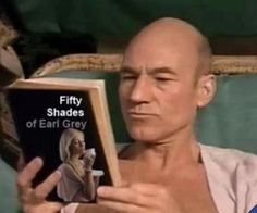 Captain Picard, always prepared. Fifty shades of Earl Grey. Fitness Workouts, Fifty Shades, Shades Of Grey, Satire, Don Papa, Star Wars, Star Trek Meme, Star Trek Universe, Earl Gray