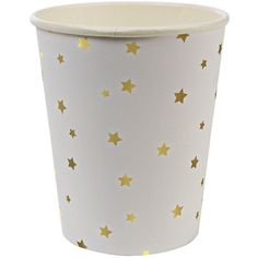 Meri Meri Toot Sweet Gold Star Pattern Party Cup
