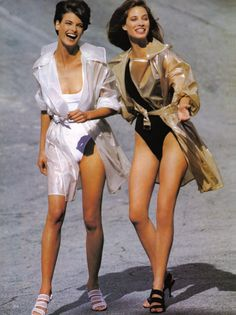 Linda Evangelista & Christy Turlington | Photography by Patrick Demarchelier | For Vogue US | April 1991