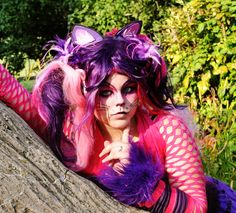 cheshire cat makeup | Cheshire Cat from Alice in Wonderland worn by Blue Bunneh