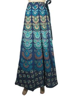 Designer Cotton Wrap Around Skirt Boho Gypsy Blue Barmari Print Warp Skirts Mogul Interior, http://www.amazon.com/gp/product/B009RK5UIG/ref=cm_sw_r_pi_alp_aWvFqb1FDB8NR