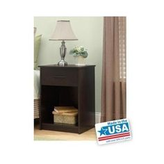 Cinnamon Cherry Wooden Nightstand End Table Bedroom Furniture Night Stand Wood